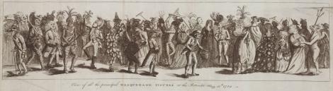 View of all the principle Masquerade Figures at the Rotunda, May 12th 1789